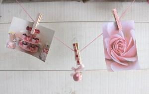 pince à linge roses