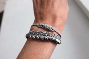 bracelet rondelles et boulons - La FABRICAMANIA