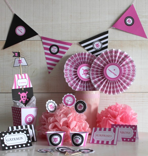 pirate fille candy bar sweet table