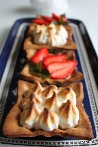 tartelettes fraises et citron meringuées