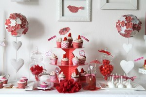 sweet table rouge création pour mariage ou baptême gironde bordeaux