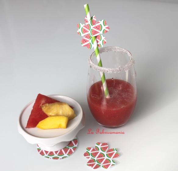 smoothie ananas-pastèque-mangue la fabricamania