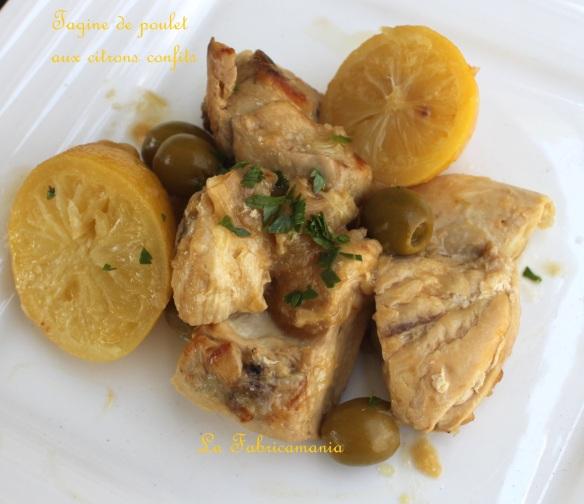 tajine poulet aux citrons confits la fabricamania recette