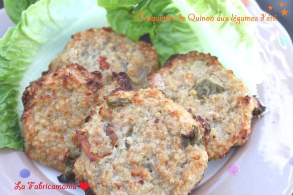 la fabricamania recette galettes de quinoa aux légumes d'été