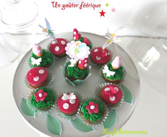 la fabricamania cupcakes féérique fée clochette anniversaire