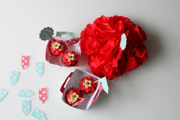 cupcakes fleuris design la fabricamania