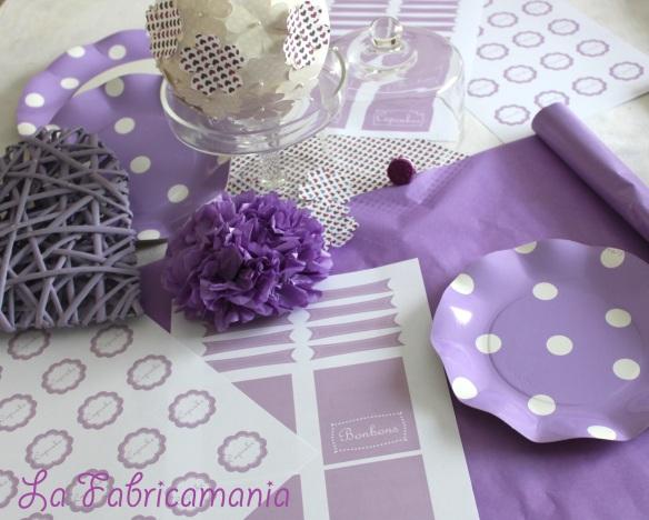 sweet table mauve-baby shower-lafabricamania-gironde-bordeaux