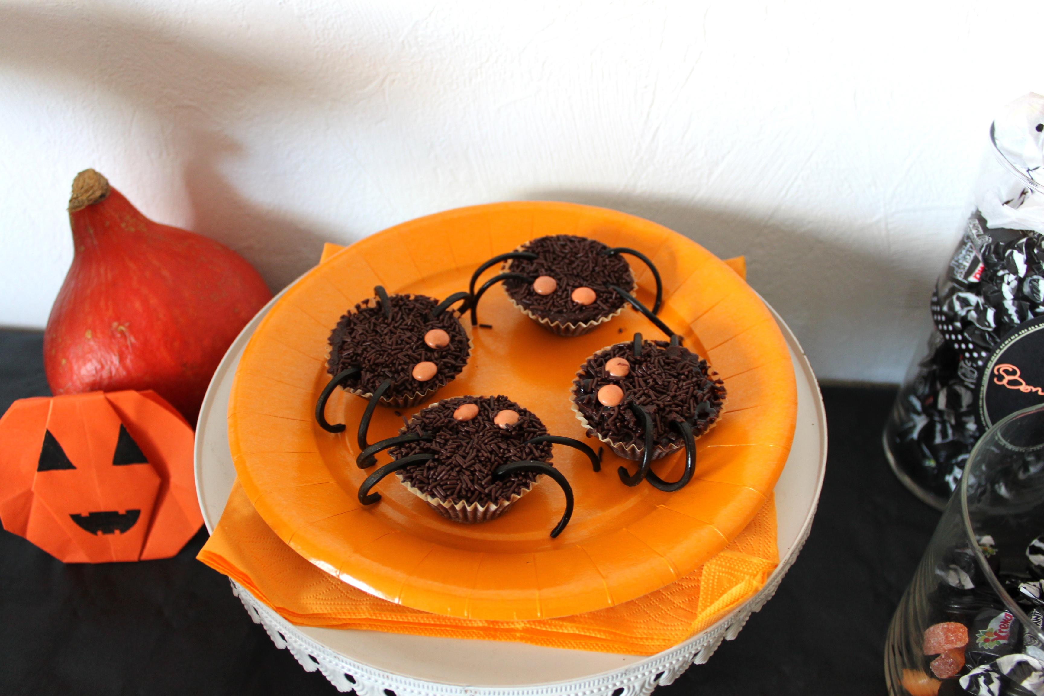 ... des araignées, c'est horrible, mais en cupcakes pas de problème