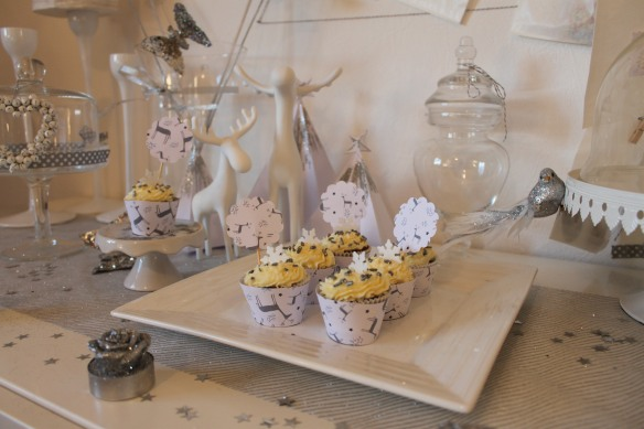 cupcakes de noel argentés  la fabricamania