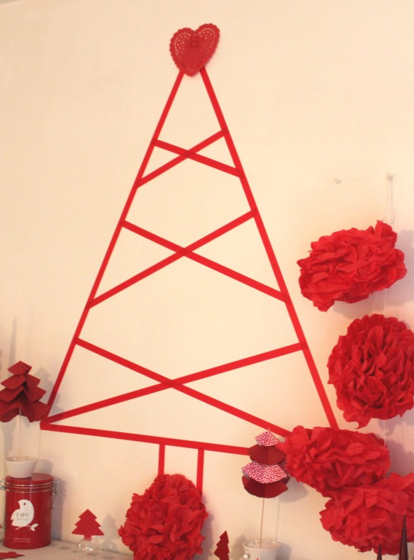 sapin de noël en making tape la fabricamania