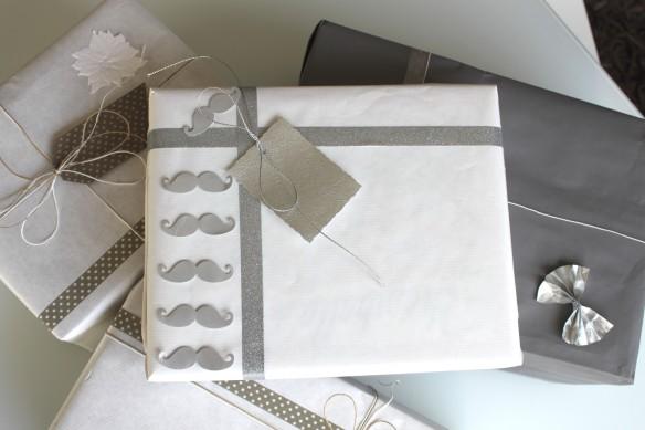 jolis paquets emballage noel- moustache la fabricamania