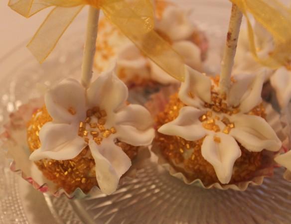 bouquet cake pop fleurs la fabricamania fetes noel nouvel an