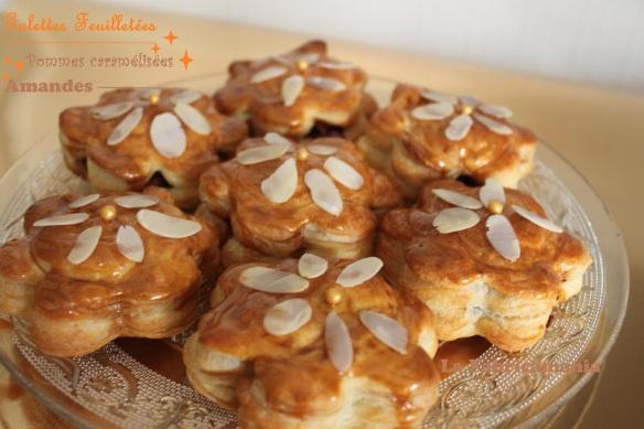 la fabricamania galette des rois, pommes caramelisées, amandes