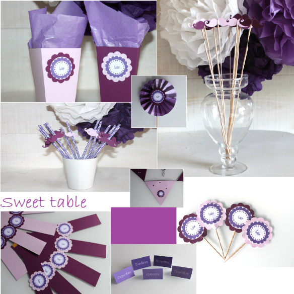 kit sweet table mauve