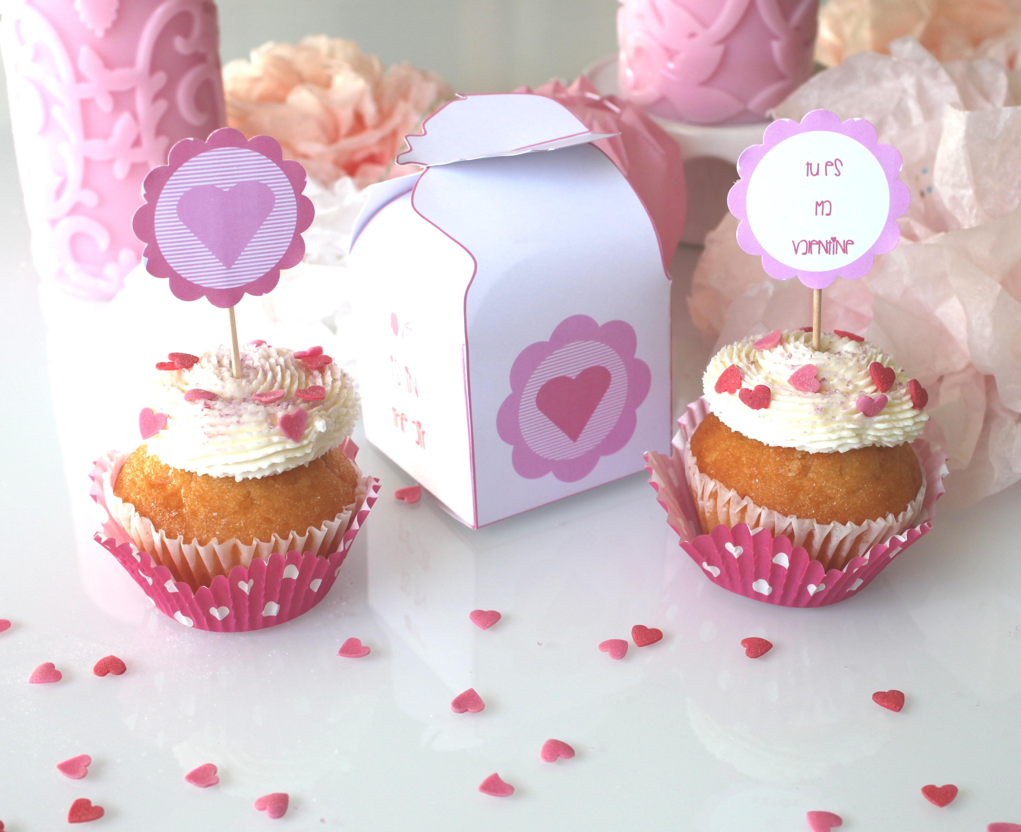 diy saint valentin une cupcake box la fabricamania. Black Bedroom Furniture Sets. Home Design Ideas
