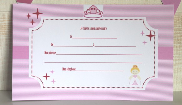 kit printable invitation princess