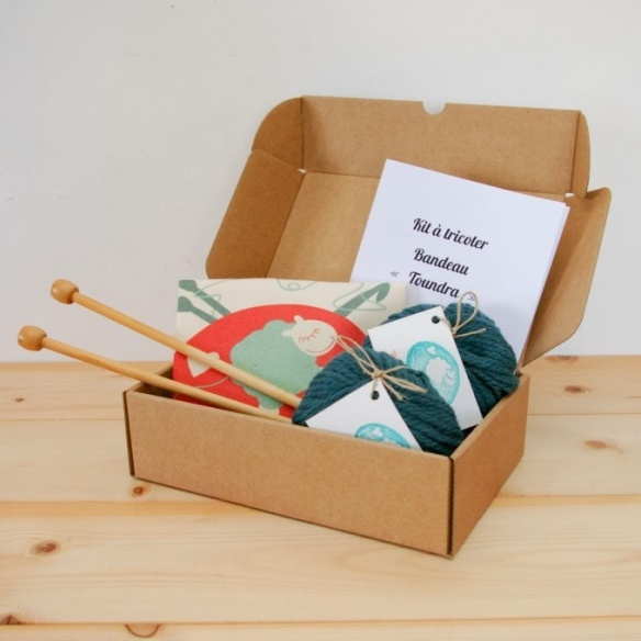 tangerinette kit à tricoter bandeau tangerinette