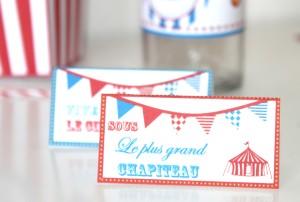 kit imprimable anniversaire cirque