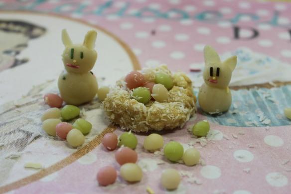 recette lapin de pâques nid et oeufs
