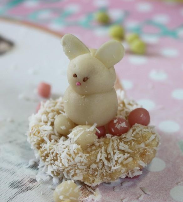nid de pâques lapin