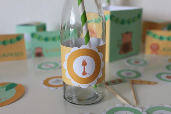 kit savane imprimable  candy bar sweet table bapteme anniversaire