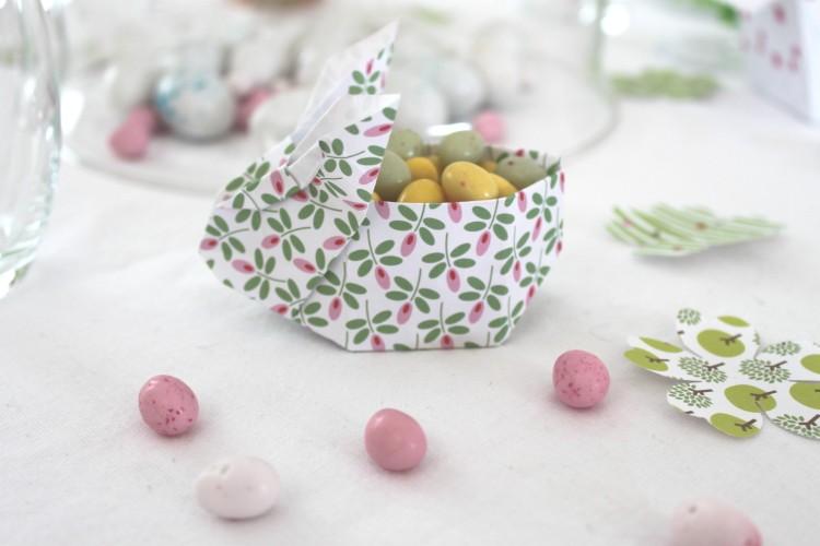 table de pâques jolie décoration lapin free printable easter origami lapin rabbit