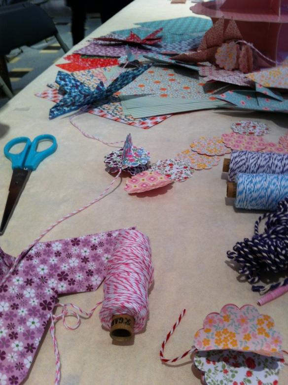 atelier papillon origami guirlande