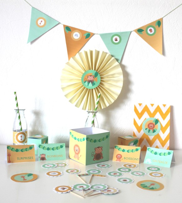 kit imprimable anniversaire candy bar sweet table