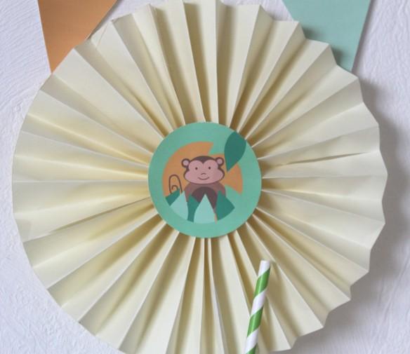 kit imprimable rosace, décoration, candy bar
