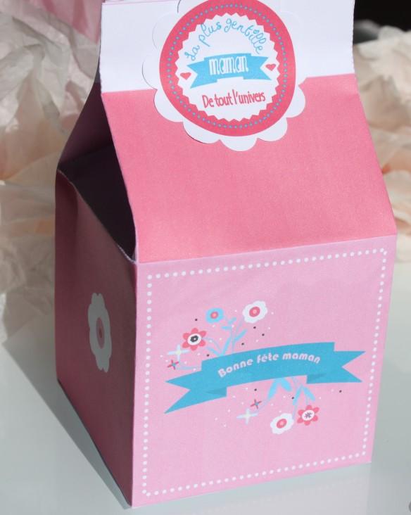 boite cadeau fête des mères à imprimer