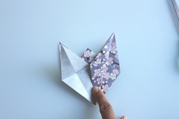diy guirlande origami cheval papier japonais