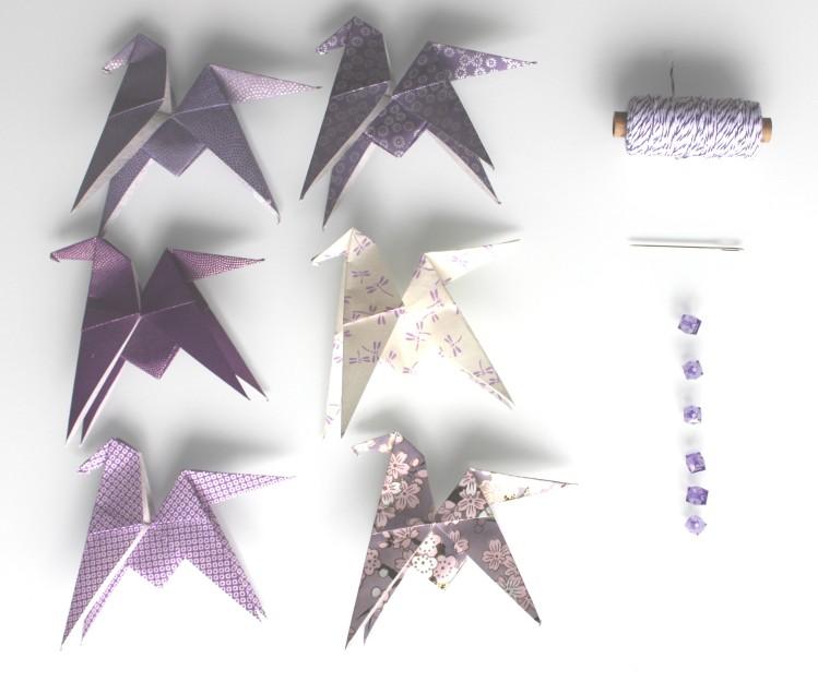 diy guirlande origami papillon papier japonais