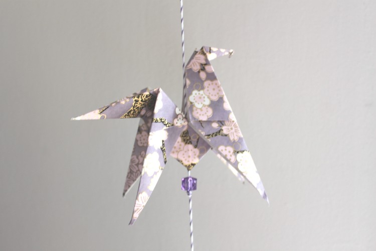 guirlande origami cheval papier japonais diy