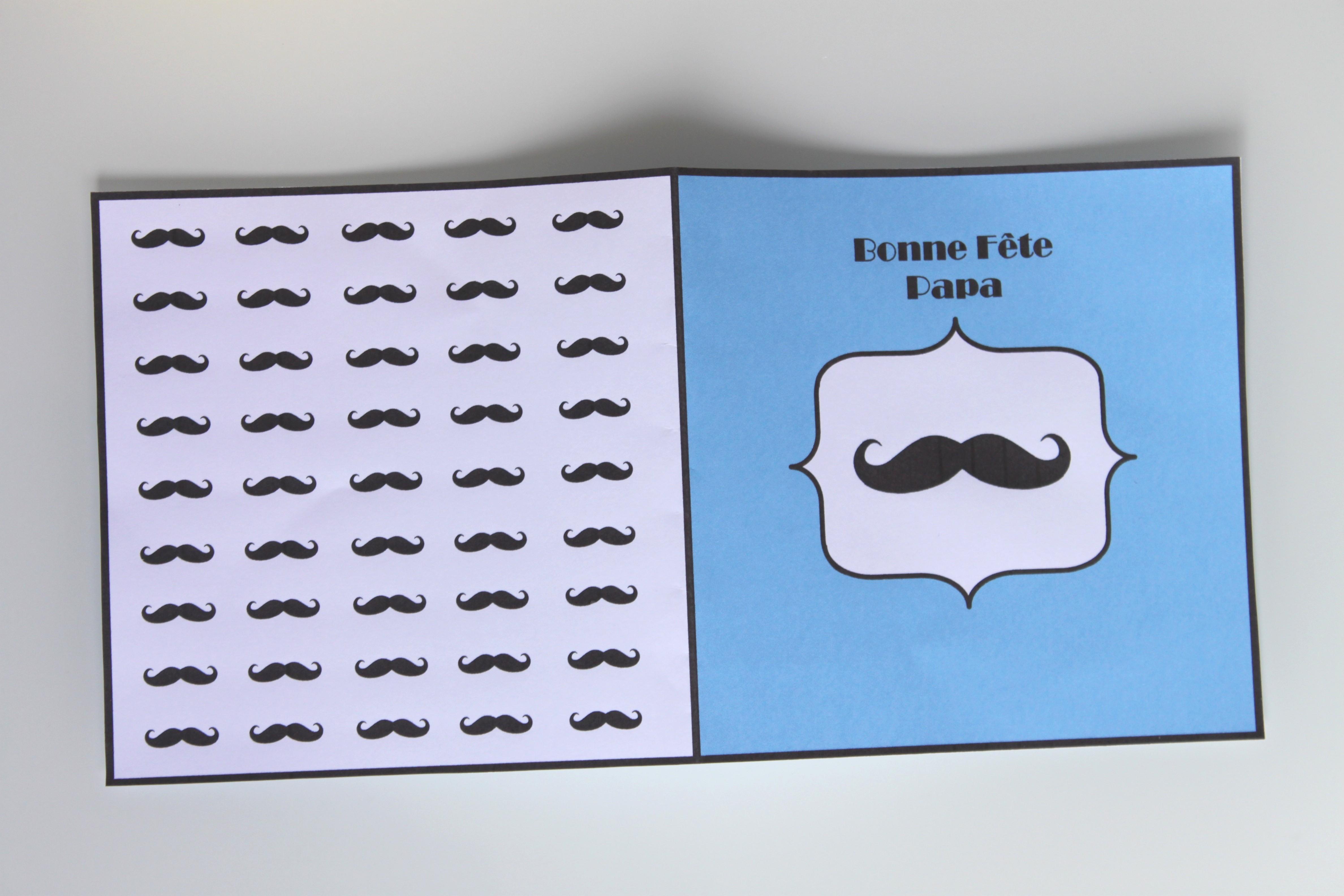 Box moustache pour la f te des p res la fabricamania - Carte fete des peres a imprimer ...