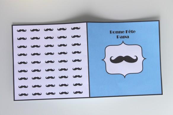 box moustache fête des pères