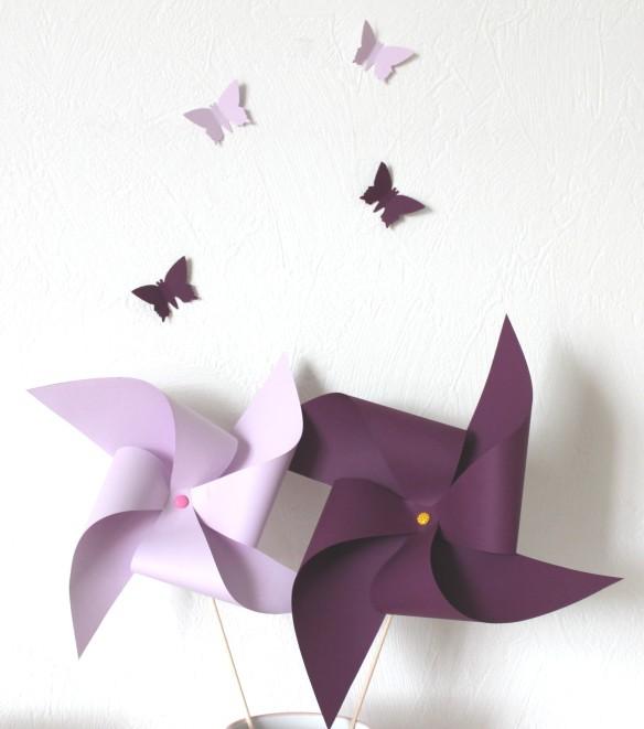 moulin a vent violet DIY