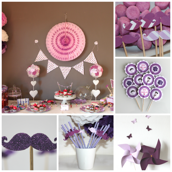 candy bar sweet table mauve
