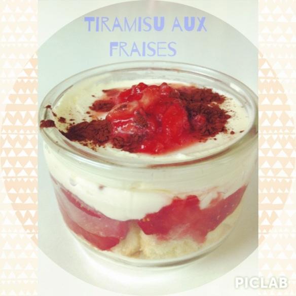 tiramisu recette aux fraises