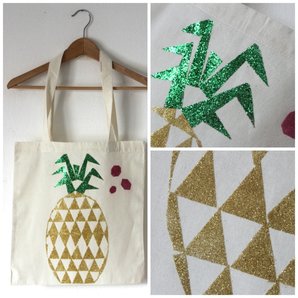 tote bag ananas paillette