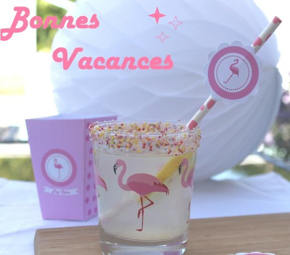 bonnes vacances flamingo flamant rose