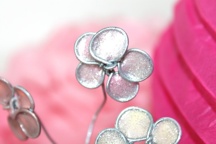 diy fleurs de cerisiers vernis métal tuto