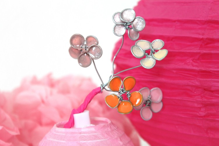 diy fleurs cerisiers vernis métal tuto