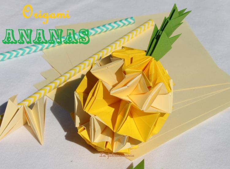 diy origami ananas