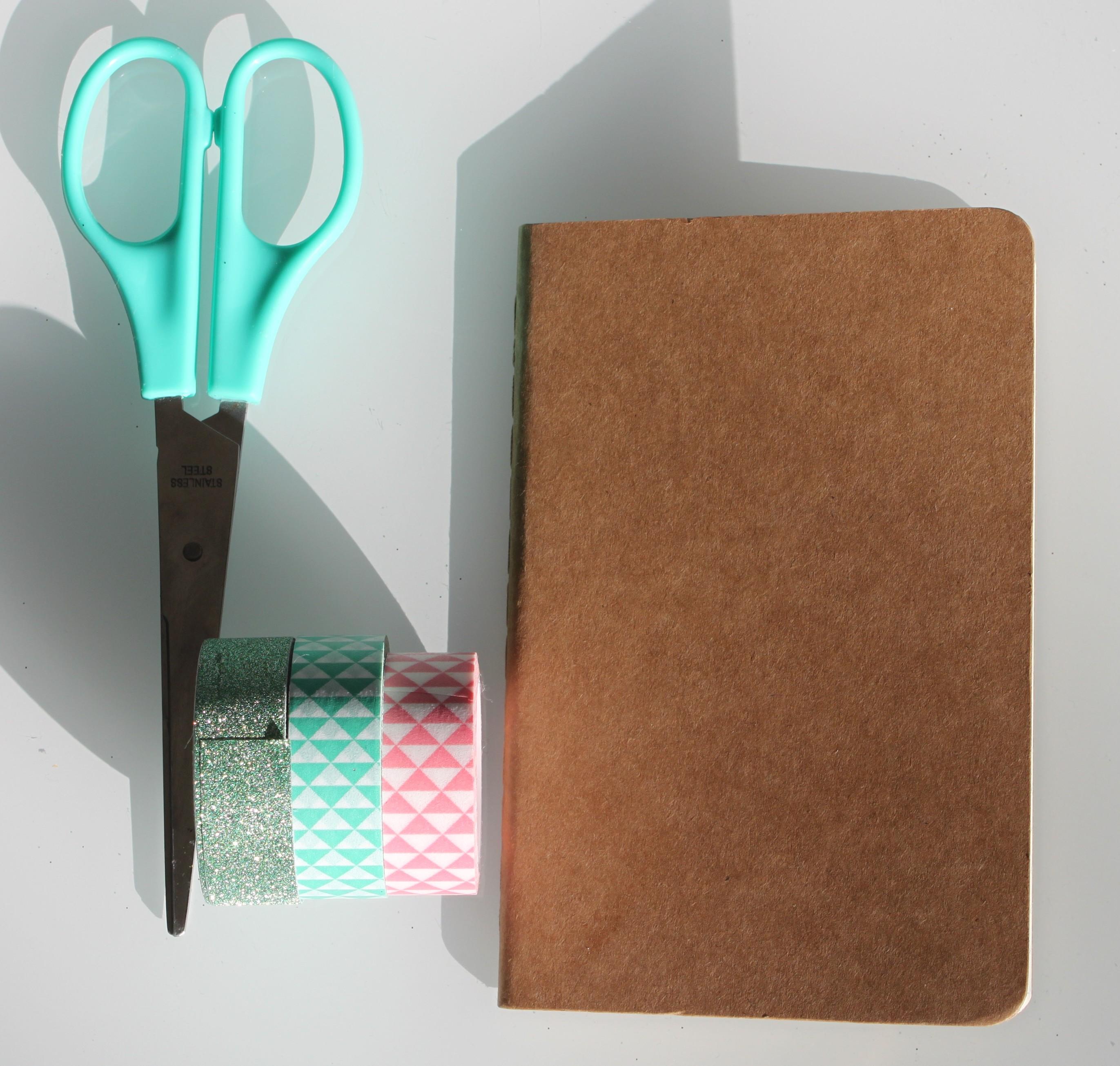 diy d corer mon petit carnet de notes avec du masking. Black Bedroom Furniture Sets. Home Design Ideas