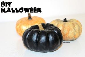 DIY-Halloween-peindre-citrouille-or-noir-potiron