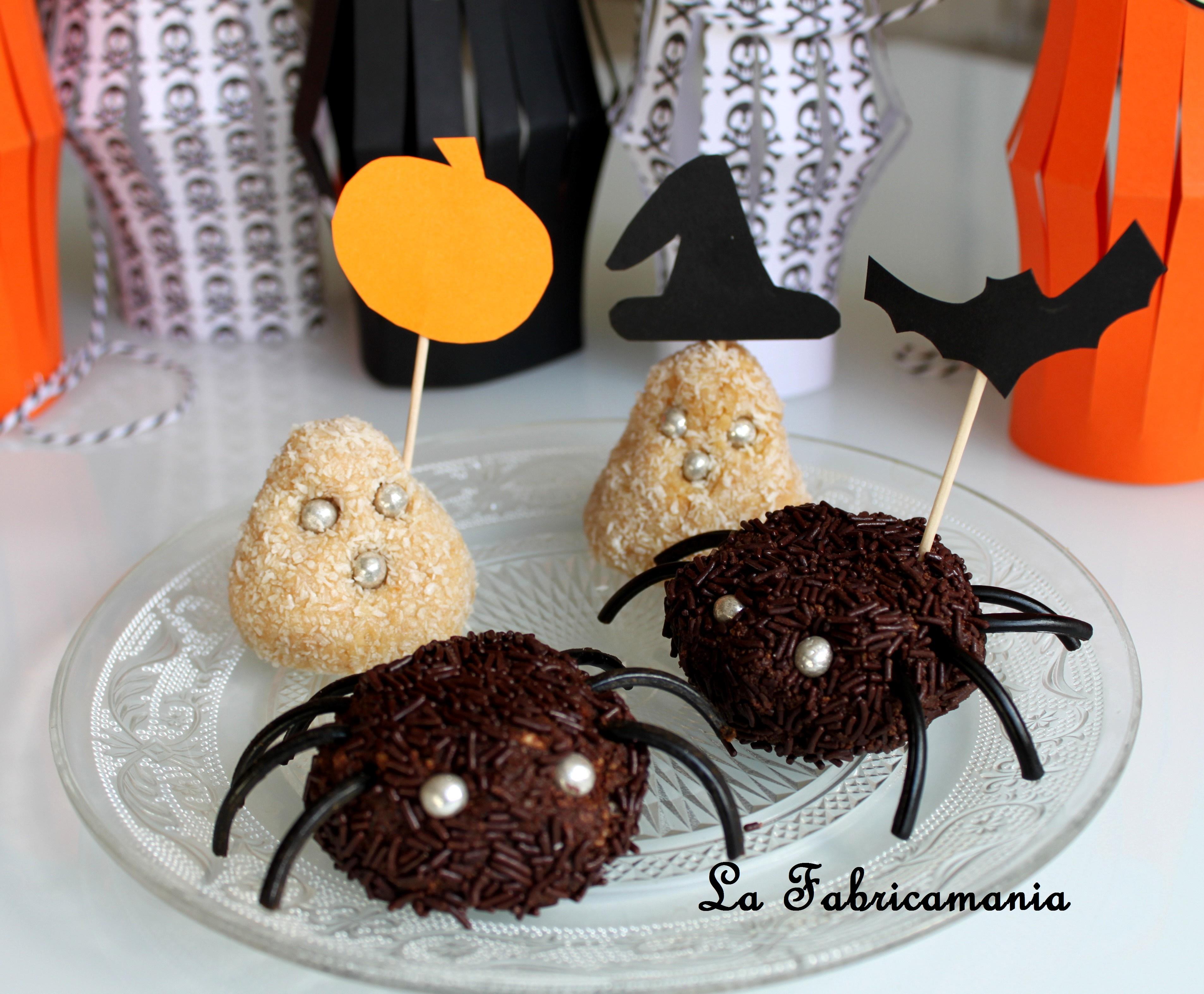 Recette halloween fant mes et araign es en chocolat free printable la fabricamania - Recette halloween horrible ...