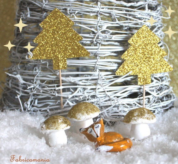 DIY- champignons fimo noel dore (31)