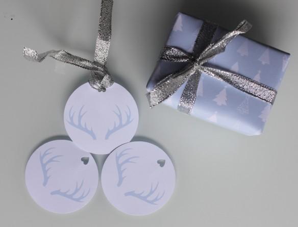 papier cadeau sapin free printable