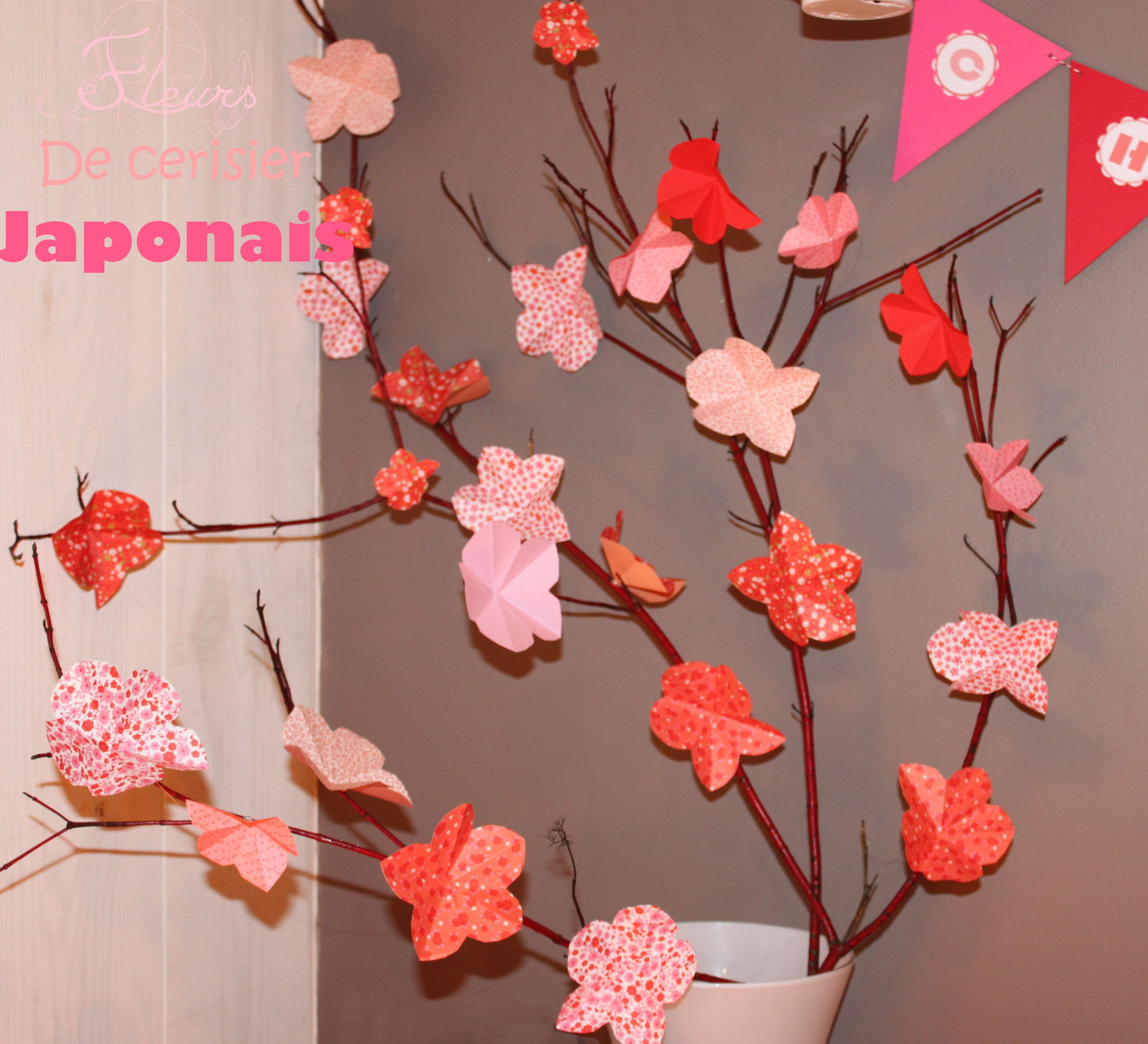diy cr er des fleurs de cerisiers japonais la fabricamania. Black Bedroom Furniture Sets. Home Design Ideas