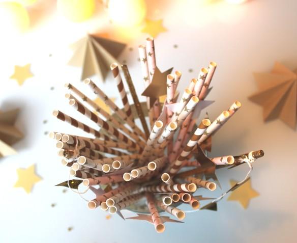 diy parasol dorés pour mousse au chocolat (10)